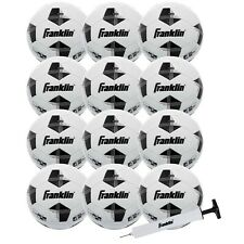 Official Competition 100 Soccer Balls - 12 Pack Deflated with Pump (Size 4)