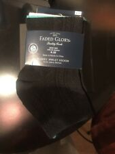 Faded Glory 5-Pack Ladies Low-Cut Socks (Womens Shoe 4-10) Black Gray White