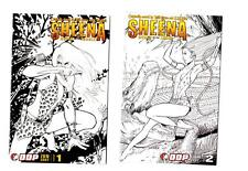 Sheena Queen of the Jungle #1-2 Sketch Covers (2007) DDP VF/NM to NM-