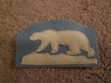 """WWI US Army patch North Russia Expeditionary Force """"Polar Ber"""" Patch AEF"""
