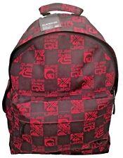 QUIKSILVER MENS BOYS BACKPACK RUCKSACK SCHOOL BAG RED BLACK  SPORTS STUDENT BAG