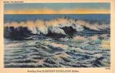 Hampden Highlands Maine Breaker Waves Antique Postcard K89732