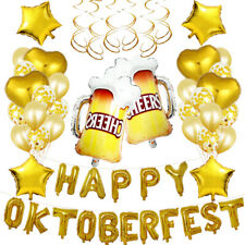Satz Folienballon Oktoberfest Heliumballon Luftballon Girlande Deko Bayern Party