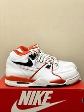 Nike Air Flight 89 EMB White Black Orange CZ6097-100 Men's Shoes Size 8