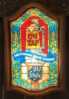 Vtg 1979 RARE Heileman's OLD STYLE 3D Stained Glass Style Lighted Beer Bar Sign