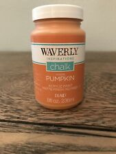 Waverly Inspirations Chalk Acrylic Paint PUMPKIN 8 oz