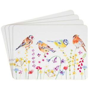 Garden Birds Set 4 Place Mats Table Placemats Country Life Leonardo