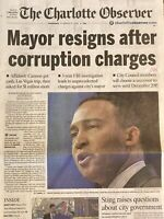Charlotte NC CLT Mayor Patrick Cannon Resigns Corruption Charges March 27 2014