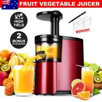Cold Press Slow Juicer Processor Mixer Extractor Vegetable Fruit Juice Maker AU