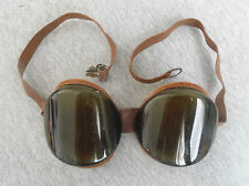 VINTAGE WW2 ERA GERMANY PILOT AVIATOR OR MOTOR-CYCLIST SAFETY GLASSES GOGGLES #3