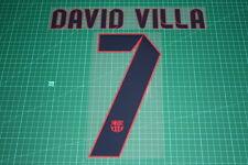 Barcelona 12/13 #7 DAVID VILLA Awaykit Nameset Printing