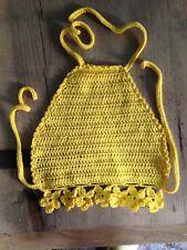 Top Amarillo Crochet Ganchillo Hilo Algodón Nuevo Artesanal Talla 2 Años