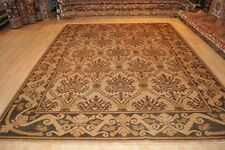 8'x11' handmade rug Hand knotted grey, green, army green beige gray handmade