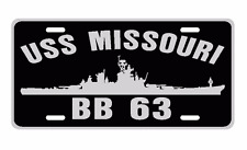 USS MISSOURI BB 63 License Plate U S Navy USN Military 001