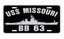 USS MISSOURI BB 63 License Plate U S Navy USN Military 001