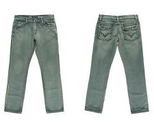 Inc Berlin Men's Denim Stone Wash Low Rise Slim Fit Jeans Grey MC03