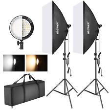 Kit Iluminación Softbox con LED Regulable Bicolor para Estudio Fotográfico