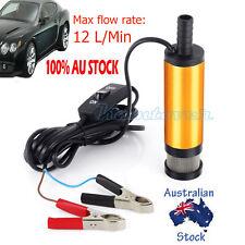 Aluminium Oil Fuel Diesel Water Transfer Pump 12V DC Heavy Duty Auto Car 12L/min