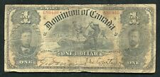 DC-13b 1898 $1 ONE DOLLAR DOMINION OF CANADA BANKNOTE