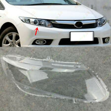 Right Side Headlight Headlamp Clear Lens Cover +Glue Fit For Honda Civic 2012-13