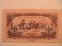 1972 Vietnam 1 Hao SPECIMEN CH CU Gem Original Asian Banknote Currency P-77s
