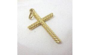 18ct Yellow Gold Cross Pendant Religious