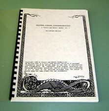 Signed by Gracie & Zarkov 1991 NOTES FROM PSYCHEDELIC UNDERGOUND DMT EXPERIENCES