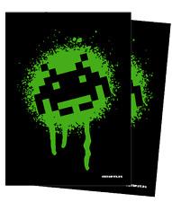 Turn One Space Invaders Graffiti Standard Size Sleeve -1 Pack/50 Sleeves