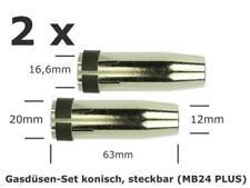 2 Stück Gasdüsen - Set  konisch steckbar für MIG/MAG Brenner MB24 PLUS