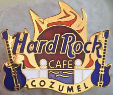 Hard Rock Cafe COZUMEL 2000 Gold Seaside View Flaming Sunset HRC LOGO PIN #2110