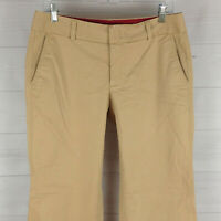 Dockers womens size 6 stretch beige flat front straight iconic khaki pants EUC