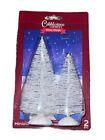 Cobblestone Corners Winter Village Two-Count Decorative Mini Christmas Trees