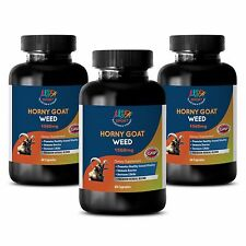 (3 Bottles) Horny Goat Weed w/ Maca Tongkat Ali & Saw Palmetto Sexual Vitality