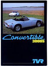 TVR 3000S & Turbo Convertible brochure Prospekt, 1978