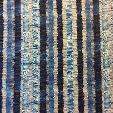 PB14 Scribble Art Blue Hash Scratch Marker Ink Stripes Lines Cotton Quilt Fabric