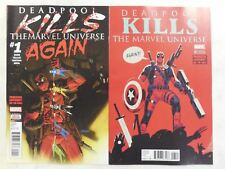 2x DEADPOOL KILLS THE MARVEL UNIVERSE AGAIN #1 Comic VARIANT NM/UNREAD 1st Print