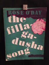Rosie O'Day The Filla-Ga-Dusha Song Piano Sheet Music Book (Poster) Irish