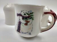 Pfaltzgraff Snow Polar Bear Winter Holiday Christmas 14oz CoffeeTea Mug Set of 5