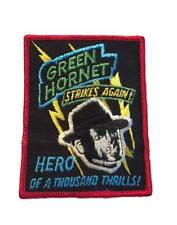 Green Hornet Strikes Again Hero Of A Thousand Thrills! Rare Patch