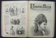 Harper's Bazar Bazaar Fashion Magazine 1877 Thomas Nast Publisher's Binding