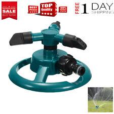 Garden Rotating Sprinkler 3-Arm Fitting Hose Outdoor Water Spray Sprinkle Garden