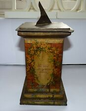 More details for antique william crawford sundial on plinth biscuit tin