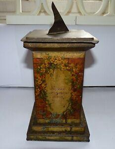 Antique William Crawford Sundial on Plinth Biscuit Tin