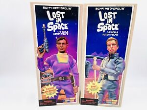 Lost In Space Set Of 2 Figures Professor John Robinson Keeper 12 Inches Rare NEW