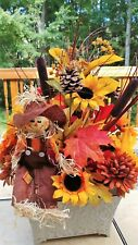 Vibrant Silk Floral Arrangement Autumn Hues- Orange, rust and yellow - Handmade