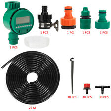 82ft Water Drip Irrigation Kits Micro Automatic Plant Watering System +Timer