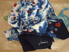 Bufanda Floral Mezcla de Seda Julios Esme En Francés Azul marino, azul, marfil, red Floral BNWT