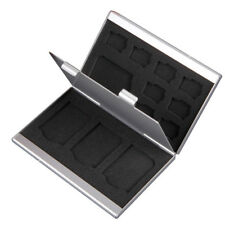 12 Slots Aluminum Micro SD MMC TF Memory Card Storage Box Protecter Case Holder