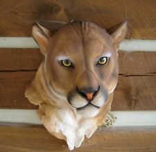 COUGAR MOUNTAIN LION CAT WALL MOUNT HEAD JUNGLE SAFARI