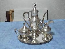 SERVIZIO DA Tè/CAFFE' 3 PEZZI  + VASSOIO IN ARGENTO CON TITOLO 800 DEGLI ANNI 70